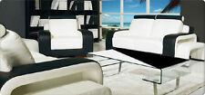 Sofagarnitur Polster Sofa Couch Leder Garnitur Wohnlandschaft 3+2+1 Fanelli
