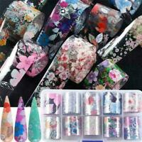 Flower Transfer Manicure Decor Nail Foil Nail Art DIY Holographic Stickers Q5W1