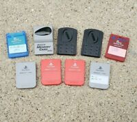 Lot of 9 Sony PlayStation PS1/PS2 Memory Cards