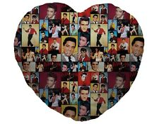 Colour Elvis Presley Fan Montage Design Heart Shaped Cushion Valentines Day