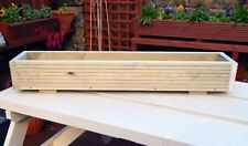 Unbranded Wooden Flower & Plant Troughs Boxes