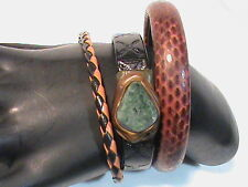 Lot of 3 Leather like Bracelets