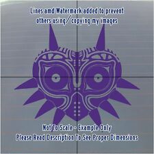 √ 1x Purple Legend Of Zelda Majoras Mask Detailed Car/Laptop Decal √