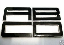 NEW Enamel Chrome Letters Car Badge in Black & Chrome Metal Letters And Numbers