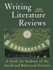 Writing Literature Reviews: A Guide for Students of the Social and Behavioral Sc