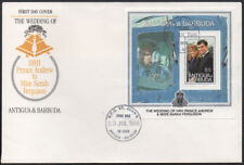 "1986, Antigua & Barbuda ""Prince Andrew Wedding"" illustrated miniture sheet FDC."