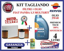 KIT TAGLIANDO FILTRI + OLIO REPSOL 5W40 + ADDITIVO FIAT PANDA 1.3 MULTIJET
