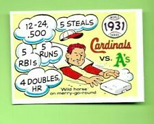 1970 Fleer R.G. Laughlin World Series 1931 A's v. Cardinals #28 Blue Back Nrmt