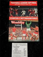 League Cup Final Football Programmes with Match Ticket