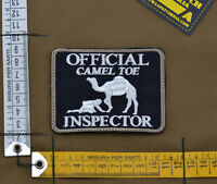 """Ricamata / Embroidered Patch """"Camel Toe"""" Black with VELCRO® brand hook"""