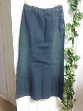Willi Smith Blue Jean Denim Bronze Studs Long Skirt Size 8 WC1083