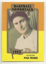 1980 TCMA Baseball Immortals - #62 - Paul Waner - Pittsburgh Pirates