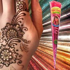 Migliore Qualità Marrone biologici freschi Henné Mehndi Tatuaggio Kit Coni + Rosa Glitter