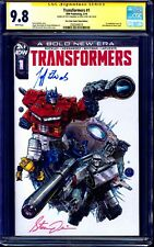 Transformers #1 ONE STOP VARIANT CGC SS 9.8 signed x2 Jeff Edwards & Steve Lydic