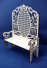 Dollhouse Miniature 1:12 Scale Victorian Bench