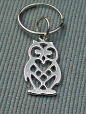 STERLING SILVER 12mm HINGED HOOP SINGLE EARRING WITH 25mm OWL PENDANT  £8.50 NWT