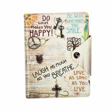 A5 Writing Journal Executive Ruled Organiser, Refillable Notebook-Slogan Cream