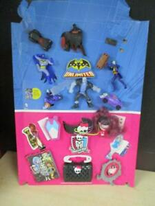 Batman Unlimited and Monster High MCDONALDS HAPPY MEAL TOYS W/ DISPLAY STAND