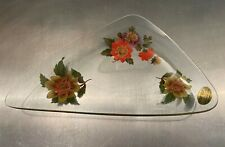 Vintage Chance Pilkington floral glass serving dish