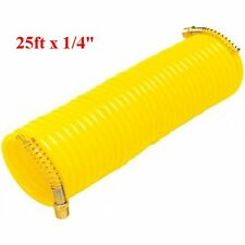 "25ft x 1/4"" Recoil Air Hose Re Coil Spring Ends Pneumatic Compressor Tool 200psi"