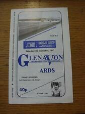 12/09/1987 Glenavon v Ards [Northern Ireland Gold Cup]  (Item has no apparent fa