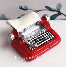 Dollhouse Miniature 1:12 Toy Metal Red Type Writer Length 2.5cm BM68