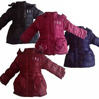 New TRENDY Winter Warm Lined Girls Jacket /Coat Faux Fur Removable Hood  4-14yrs