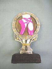 ballerina dancer trophy award pink shoes resin R666