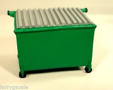 Miniature Back Alley Trash Dumpster 1/24 Scale G Scale Diorama Accessory Item