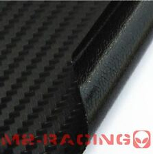 "48""x60"" BLACK CARBON FIBER w/ Bubble Free Channel Vinyl Wrap Sticker Decal Sheet"