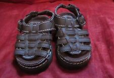 Newborn SZ 2 brown baby sandals easy close reborn doll fits 3-6 mo