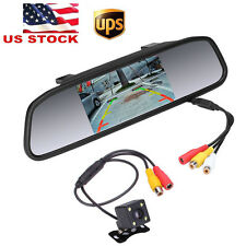 "4.3"" LCD Car Rear View Mirror Monitor + 4 LED CCD HD Reverse Camera Night Vision"