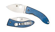 Spyderco Lil' Lum Sprint Run Knife C205GFBLP, VG-10 Blade, Blue Glass Fiber