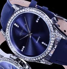 Excellanc Damen Uhr Damenuhr Armbanduhr Blau Silber Farben L4