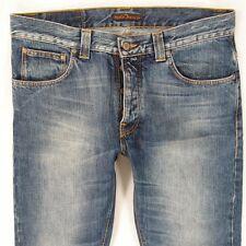 Mens Nudie STRAIGHT SVEN Straight Blue Jeans W34 L30