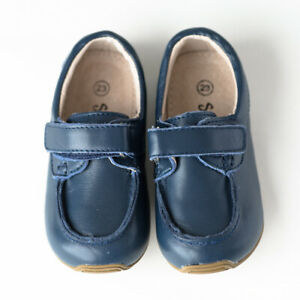 NEW SKEANIE Toddler & Children Leather Deck Shoes Navy. Podiatry Designed & Appr