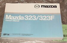 MAZDA 323 323 F Owners Manual BP14EE99G copyright 1998