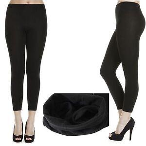 Full Length Super Soft Fleece Black Legging