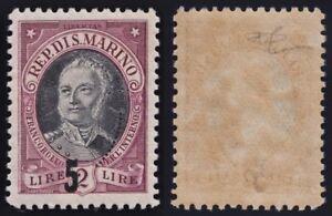 "San Marino 1927 ""Onofri"" serie MNH** 130-132e varietà soprastampa cert.Carraro"