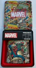 OFFICAL MARVEL SPIDERMAN  TRIFOLD WALLET IN FANTASTIC GIFT TIN RRP $40