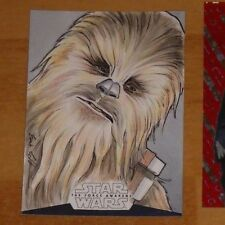 Topps 2016 STAR WARS High Tek Sketch Card Eric Lehtonen Carte VERY RARE