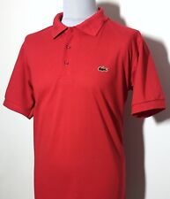 Mens Lacoste Sport Red White Striped Polo Shirt Size L *Exclusive* 8-634