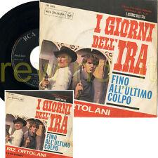 """RIZ ORTOLANI """"I GIORNI DELL'IRA"""" RARO 45GIRI OST (7"""") 1966 ITALY"""