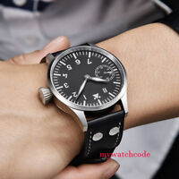 43mm corgeut black sterile dial PVD case Sapphire Glass hand winding mens Watch