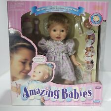 Playmates Amazing Babies Interactive Doll w/ Accessories 2000 Reacts To Voices
