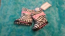 Zebra Print Newborn Baby Infant Crib Shoes Boots size 0 gift photography