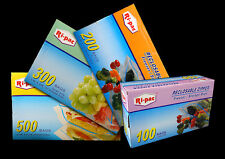 "100 13x16"" Zip Reclosable Self Lock Freezer Storage 2 Gallon Bags Food Nuts Bag"
