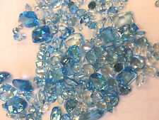 25ctw Wholesale LOT Mixed Assorted Cut/Carat Genuine Light Blue Topaz Gemstones