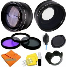 46Mm Wide Angle + Telephoto Lens + Accessories for Lumix Dmc-G7Hk With 14-140Mm