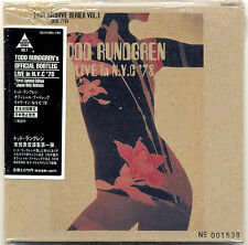 TODD RUNDGREN Live In N.Y.C. 1978 Japan Mini LP CD NEW Sealed 1999!